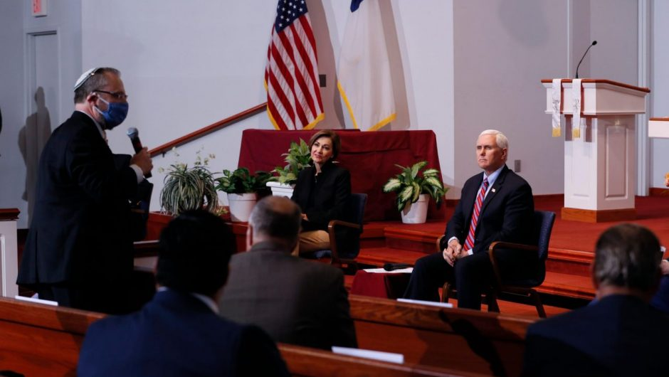 Pence aimed to project normalcy during his trip to Iowa, but coronavirus got in the way