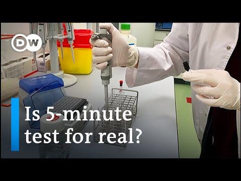 Coronavirus: US lab unveils portable 5-minute Covid-19 test | DW News