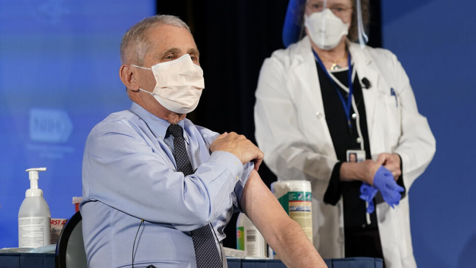 Fauci joins the coronavirus vaccine parade, as Trump sits it out