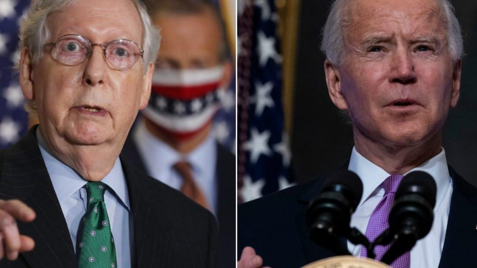 Biden calls out McConnell for touting COVID-19 relief bill the senator voted against